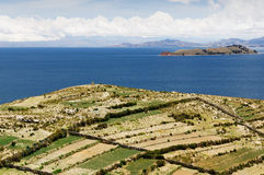 Titicaca lake, Bolivia, Isla del Sol landscape Royalty Free Stock Photo