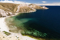 Titicaca lake, Bolivia, Isla del Sol landscape Royalty Free Stock Images
