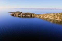 Titicaca Lake, Bolivia, Isla del Solenoid liggande Fotografering för Bildbyråer