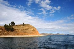Titicaca lake. Bolivia. Titikaka — this lake, the biggest on stocks of fresh water of South America, the lake of South America second for surface area, the Royalty Free Stock Photos