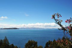 Titicaca lake. Bolivia. Titikaka — this lake, the biggest on stocks of fresh water of South America, the lake of South America second for surface area, the Stock Image