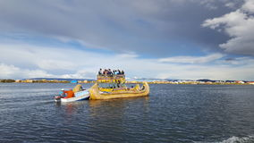 Titicaca Lake. Caballito de totora in titicaca lake in Puno Royalty Free Stock Image