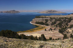 Titicaca lake and cultures Stock Images