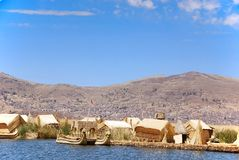 Titicaca Lake islands Stock Image