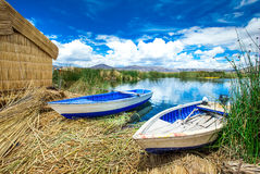 Titicaca lake near Puno, Royalty Free Stock Photos