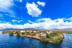 Titicaca lake near Puno, Peru Royalty Free Stock Images