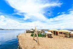 Titicaca lake near Puno, Peru Royalty Free Stock Photo