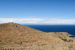 Titicaca lake, Peru, Amantani island Royalty Free Stock Photo
