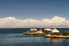 Titicaca lake, Peru, floating islands Uros Royalty Free Stock Image
