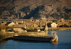 Titicaca Lake Scenics Stock Photo