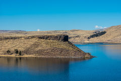 Titicaca Lake Silustani peruvian Andes at Puno Peru Royalty Free Stock Image
