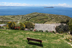Titicaca. The titicaca lake from the sun island Stock Photography