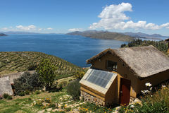 Titicaca lake. The titicaca lake and the sun island in bolivia Royalty Free Stock Image