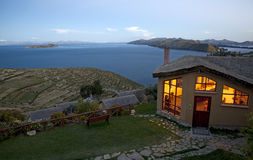 Titicaca. The titicaca lake at sunset Stock Photos