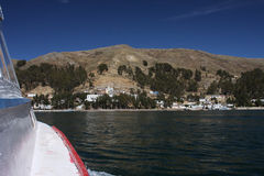 Titicaca lake travel Stock Image