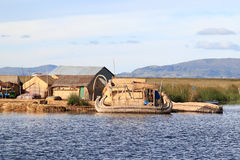 Titicaca's floating islands Royalty Free Stock Image