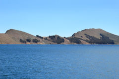Titicaca's hills Royalty Free Stock Photos