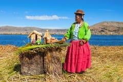 Titicaca sjö, Puno royaltyfri fotografi