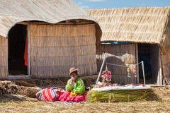 Titicaca sjö, Puno arkivfoton