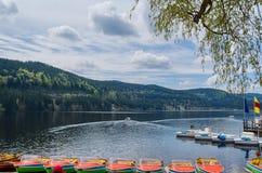 titisee湖风景用德语 库存照片