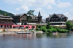 Titisee湖在黑森林在德国 免版税库存图片
