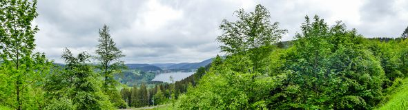 Titisee Black Forest from above royalty free stock photos