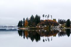 Titisee et lacs Schluchsee en Allemagne photo stock