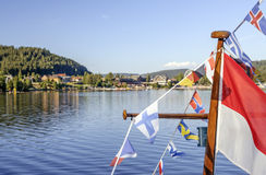 TITISEE, GERMANY - AUG 10: Titisee, a municipality in the Black Forest mountain range on Aug 10, 2015. Its in the state of Baden-W Stock Image