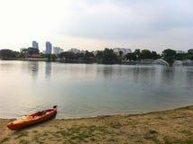 Titiwangsa sjö i Kuala Lumpur Malaysia Fotografering för Bildbyråer