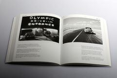 Photography book by Nick Yapp, Olympic Drive-in Cinema in California Stock Image