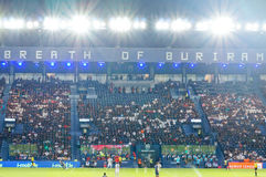 Title=BURIRAM, TAILANDIA - 15 agosto: 'Respiro di Buriram' immagine stock