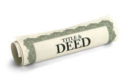 Title Deed Stock Image