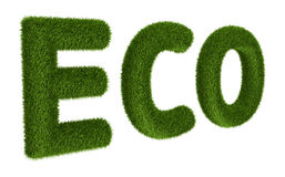 Title ECO with grass Stock Photos