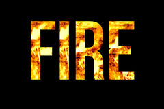 Title fire with flame texture Royalty Free Stock Image