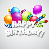 Title Happy Birthday with balloons and Stock Images