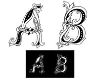 Title letters A and B Royalty Free Stock Images