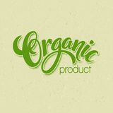 Title Organic. Vector Handmade lettering Stock Images