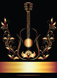 Title page with guitar Royalty Free Stock Image