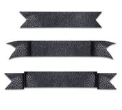 Title ribbon made from luxury leather show textured dark color Stock Photography