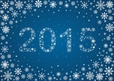2015 title from snowflakes. Title 2015 from frosty snowflakes, vector background Stock Photos