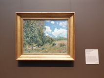 The Getty Center-Sunrise Marine Claude Monet royalty free stock photo