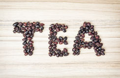Title TEA composited of the dried rosehips Stock Photography