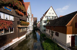 Titled houses and Canal Royalty Free Stock Photos