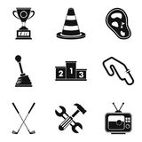 Titleholder icons set, simple style. Titleholder icons set. Simple set of 9 titleholder vector icons for web isolated on white background Stock Photos