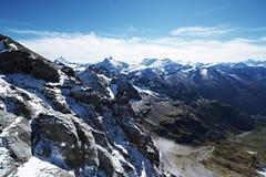 Titlis山在瑞士 库存照片
