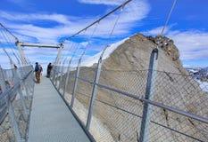Titlis Cliff Walk suspension bridge Stock Photography