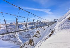 Titlis Cliff Walk suspension bridge Stock Images
