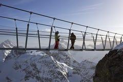 Titlis cliff walk in Switzerland Royalty Free Stock Photos
