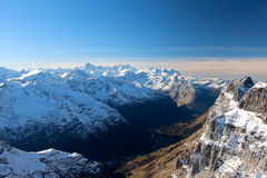 Titlis mountain's view Stock Images