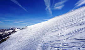 Titlis snow mountains scratch ski Stock Images
